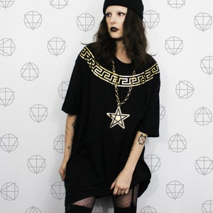 Image of Gold Medusa Collar Tee
