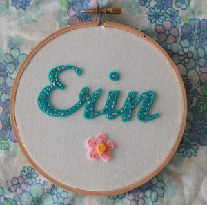 Image of Personalised Name Hoop - Teale