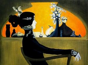 Image of Lady Waiting Art Print