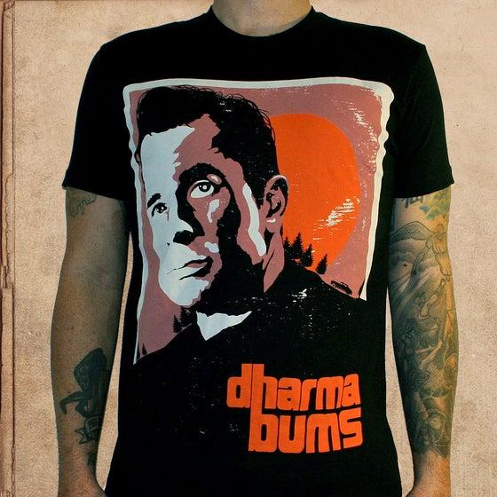 Image of Kerouac Dharma Bums - black - discharge inks - unisex