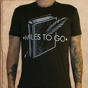 Image of Miles to go - Logo w/ name - dark brown - discharge inks - unisex