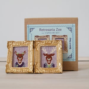 Image of Sir & Lady Deer 'Tiny Tapestry' Needlepoint Kit