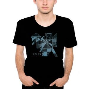 Image of Shapes T-Shirt - Black and Blue