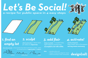 Image of Let's Be Social! a recipe for public space in 4 easy steps