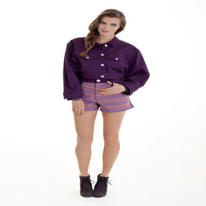 "Image of ""Sacred Inca"" Jacket Purple"