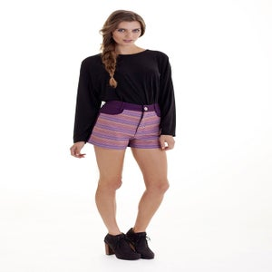 "Image of ""Sacred Inca"" High Waist Shorts"