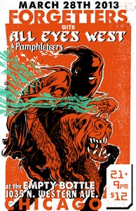 Image of All Eyes West / Forgetters Show Poster * SHIPPED FREE!