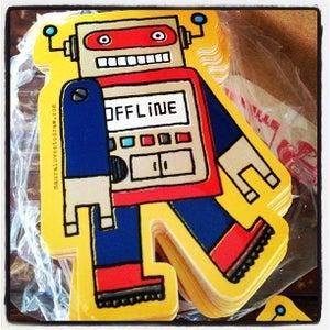 Image of die-cut robot sticker #02