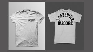 Image of Yorkshire Hardcore T-Shirt - Black Print on White