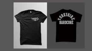Image of Yorkshire Hardcore T-Shirt - White Print on Black