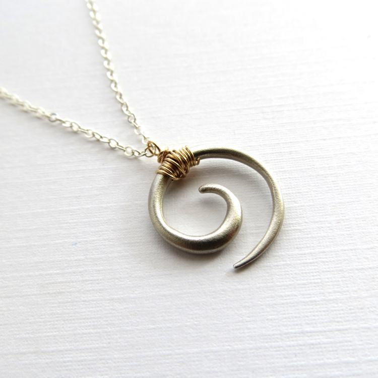 Image of Koru tribal swirl necklace