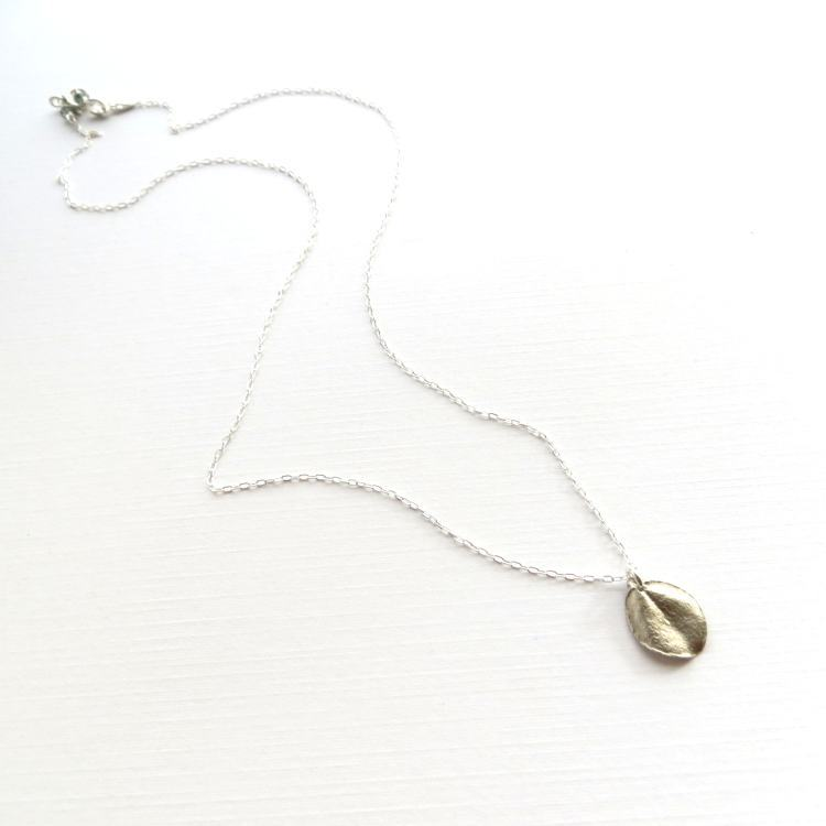 Image of Tiny ohi'a leaf necklace