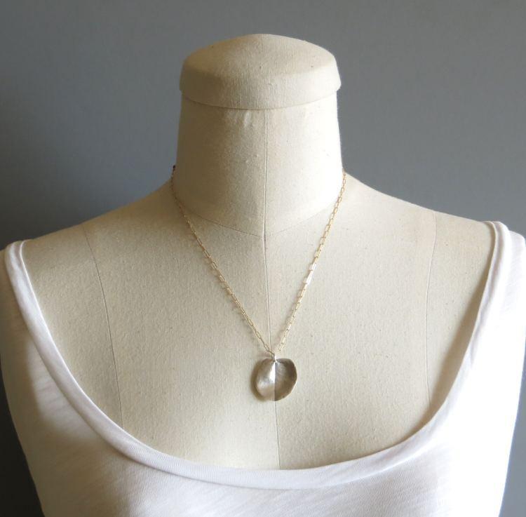 Image of Large ohi'a leaf necklace