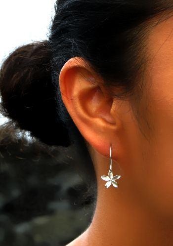 Image of Pua Melia - Tiny plumeria earrings