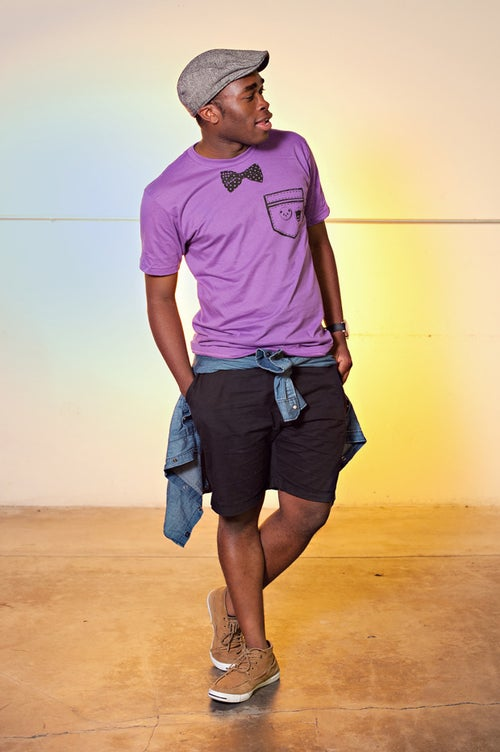 "Image of ""Bowtie x Pocket"" Unisex Tee (Ultraviolet)"