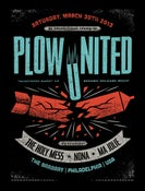 Image of Plow United record release show poster