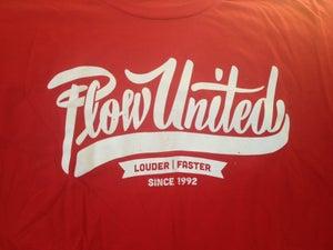 Image of Plow United cursive logo t-shirt