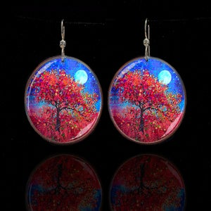 Image of Harvest Moon - Abundance Blessing Earrings