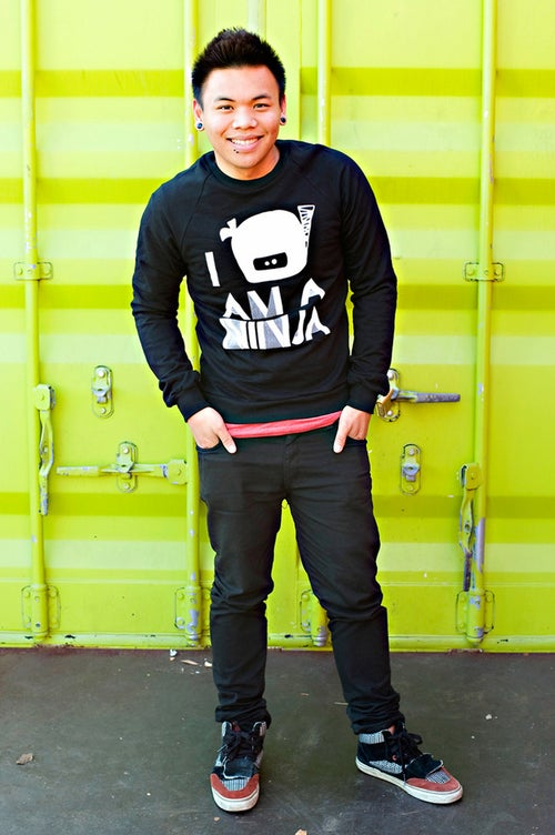 "Image of ""I Am A Ninja"" Crew Neck Sweater (Black)"