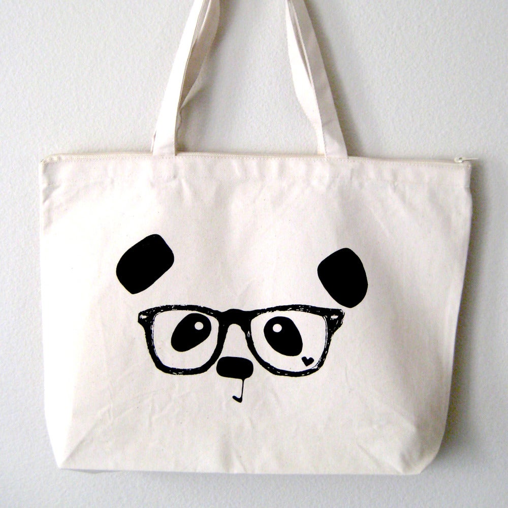 "Image of ""Nerdy Panda"" Tote Bag"