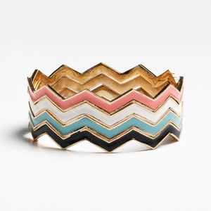 Image of Chevron Bangle Stack