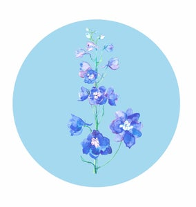 Image of Delphinium Circle Print