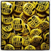Image of HELLO FRIEND button
