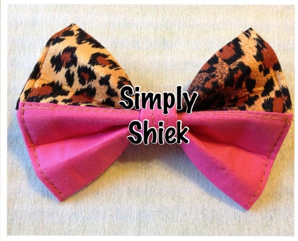 Image of Cheetah and Pink Bow