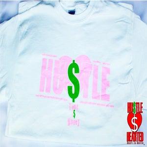 """Image of """"HU$TLE"""" Life women's art tee"""