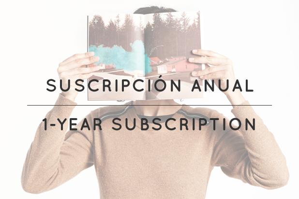 Image of suscripción anual / 1 year subscription
