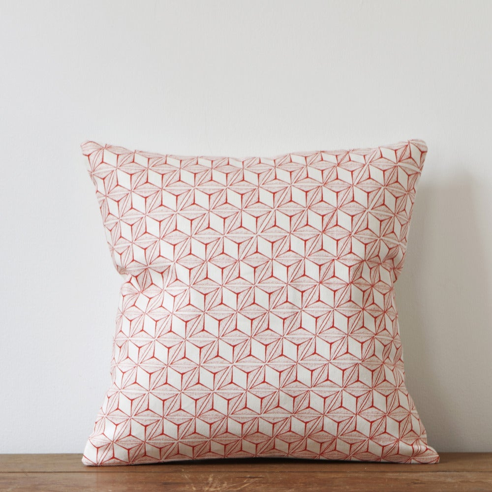 Image of  Tumbling Print Cushion, Coral Colourway