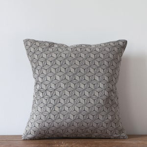 Image of Tumbling Print Cushion, Charcoal Colourway