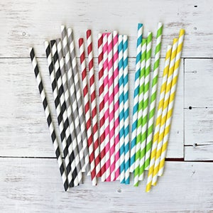 Image of Stripe Paper Straws