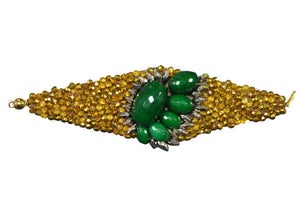 Image of Bracelet Chiara green gold