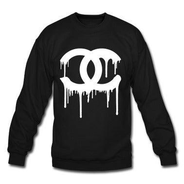 Image of Chanel Drip Graffiti Crewneck Sweater