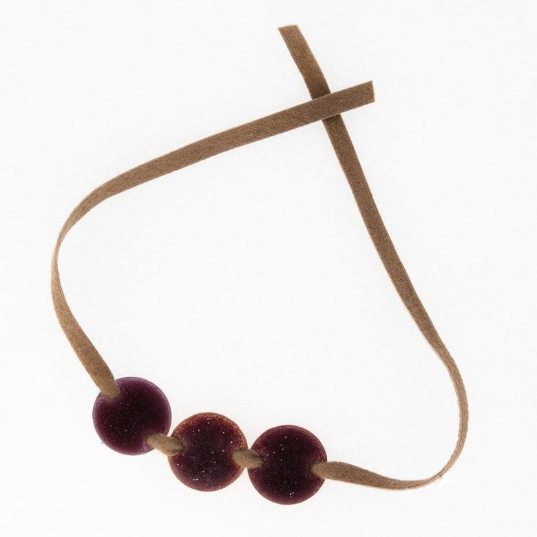 Image of Bracelet daim 3 Pastilles