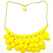 Image of Teardrop Bib Necklace + Earrings: Bright Yellow