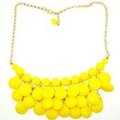 Image of Teardrop Bib Necklace + Earrings: Bright Yellow