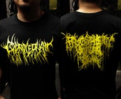 Image of Coprocephalic T-Shirt Yellow Logo Atmospheric Guttural Slam