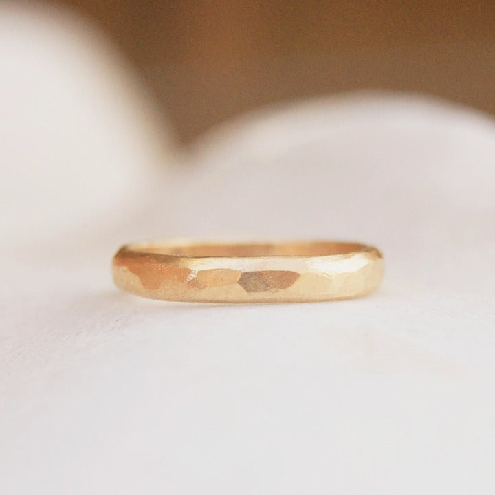 Image of Small hammered Gold ring