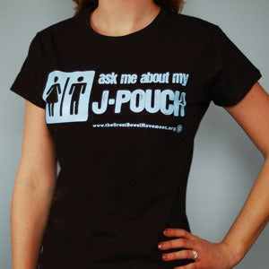 Image of Ask Me About My J-Pouch T-Shirt - Women's