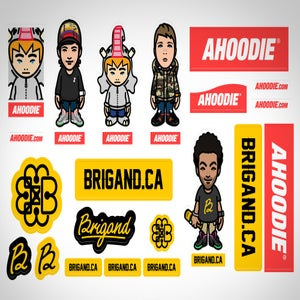 Image of STICKER PACK BRIGAND X AHOODIE