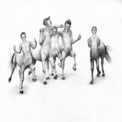 Image of Schemie Centaurs II- Limited Edition Giclee Print- 43 x 33 cm- Kirsty Whiten