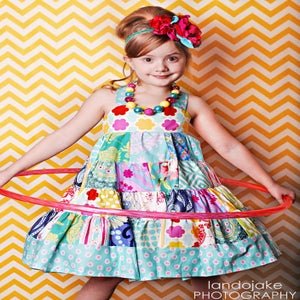 Image of Avalon Patchwork Twirly Dress