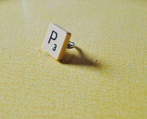 Image of Vintage Letter Tile Ring