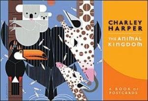 Image of Charley Harper Animal Kingdom Post Card Book Charles Harper Mid Century Modern Art Todd Oldham Birds