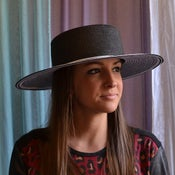 Image of Wide brim braid hat