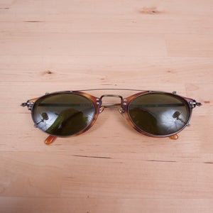 Image of Oliver Peoples - Vintage op-505 Tortise AG with Clip-On