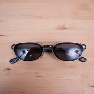 Image of Oliver Peoples x Soloist - s.0142 Black Eyeglasses with Clip-On