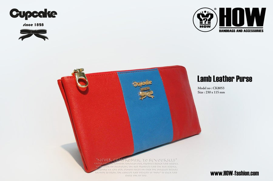 Image of Lamb Leather Purse [CK8053RED]